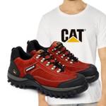 Tênis Caterpillar 2085 - Vermelho + Camiseta Branco Cat