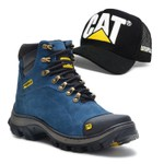 Bota Caterpillar 2160 Azul + Bone Cat