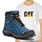 Bota Caterpillar 2160 Azul + Camiseta Cat