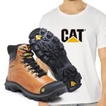 Bota Caterpillar 2160 - Cevada + Camiseta CAT Branca