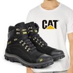 Bota Caterpillar 2160 - Preto + Camiseta Branca Cat