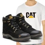 Bota Caterpillar 2189 - Preto + Camiseta Cat