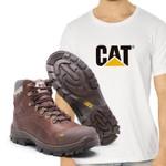 Bota Caterpillar 9820 - Chocolate + Camiseta Cat