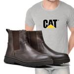 Bota Caterpillar Farmer Café + Camiseta Cat