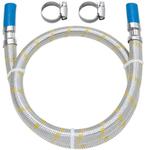 Engate Flexível Inox Para Gás Com Espigão E Abraçadeira 1,00m 182502 41 - Blukit