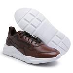 Tênis Dad Sneaker Chunky em Couro