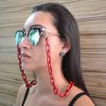 Cordinha de Óculos Corrente Quavis Vermelha *