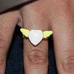 Anel Regulável Coração Asa Colors Amarelo
