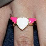 Anel Regulável Coração Asa Colors Pink