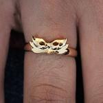Anel Mascara Dourado