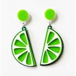 Brinco Acrílico Verde Limão *