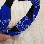 Tiara Turbante Azul Escuro