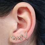 Conjunto Ear Cuff Snake Dourado