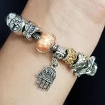 Pulseira Pandora Hamsa Prata Champanhe