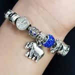 Pulseira Pandora Elefante Prata Azul
