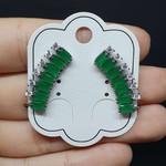 Brinco Ear Cuff Zircônia Grafite Verde