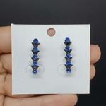 Brinco Ear Hook Grafite Azul