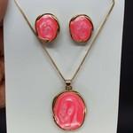 Conjunto Dourado Mesclado Rosa