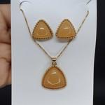 Conjunto Triângulo Dourado Mesclado Caramelo
