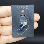 Piercing Fake Zircônia Prata Azul