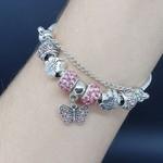 Pulseira Pandora Borboleta Prata Rosa