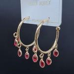 Argola Oval Dourado Rosa