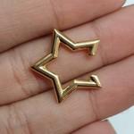 Piercing Fake Folheado Dourado Estrela