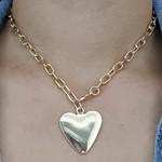 Colar Elos Coração Dourado