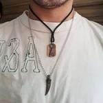 Colar Masculino Lorde Preto Chave