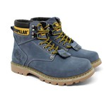 Bota Masculina Caterpillar Second Shift Azul Cinza
