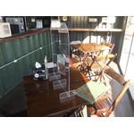 Barreira De Proteção De Mesa Em Acrílico Cristal para Bares e Restaurantes