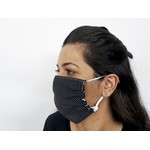 Máscara Tecido Dupla Proteção Estampa Personalizada De Poá Preto