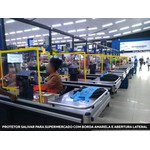 Barreira de proteção para Supermercado com Borda Amarela