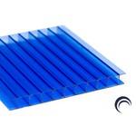 Chapa de Policarbonato Alveolar Azul 1,05x6,00 6 Milímetros