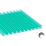 Chapa de Policarbonato Alveolar Verde 2,10x6,00 6 Milímetros