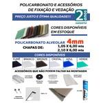 Kit 5 Placas de Policarbonato 1,05x6x6 mm + acessórios para Instalação