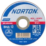 Disco de corte para inox 115 x 1,0 x 22,23 mm - BNA12 Norton