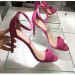 Sandália Feminina Modelo Gisele Zatz Salto Fino Bico De Folha Pink