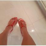 Rasteirinha Feminina Camminare Fosca Vermelha