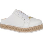 Mule Maresias Soft Plataforma CRShoes |Branco Solado Juta