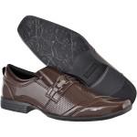 Sapato masculino social CRshoes verniz cafe com brinde carteira