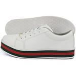 Tênis casual feminino CRshoes | Branco Solado Vermelho