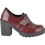 Oxford feminino tratorado CRshoes verniz marsala