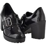 Oxford feminino tratorado CRshoes verniz preto