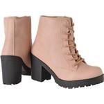 Coturno feminino tratorado CRshoes rosa
