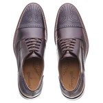 Sapato Social Oxford Brogue Couro Executive Masculino Europe Ferregatti - 111-002 - Café