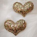 Corações Purpurinados