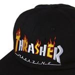 Snapback Thrasher Flame mag Black