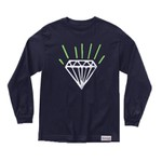 LONGSLEEVE DIAMOND GEM NAVY GREEN