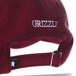 Headwear Grizzly Dad hat OG Bear Burgundy